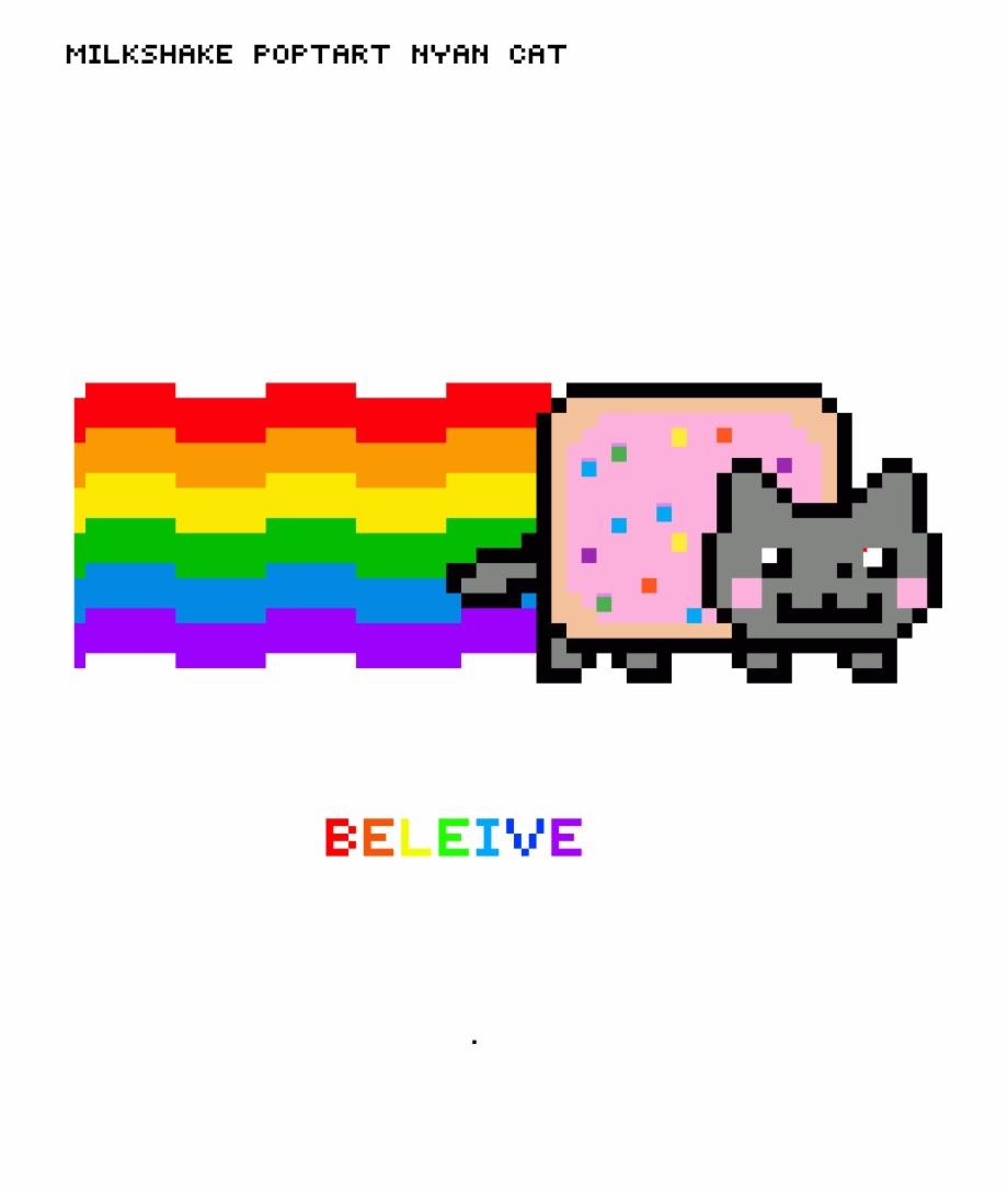 Milkshake Nyan Cat Css In Chrome Console Transparent Png