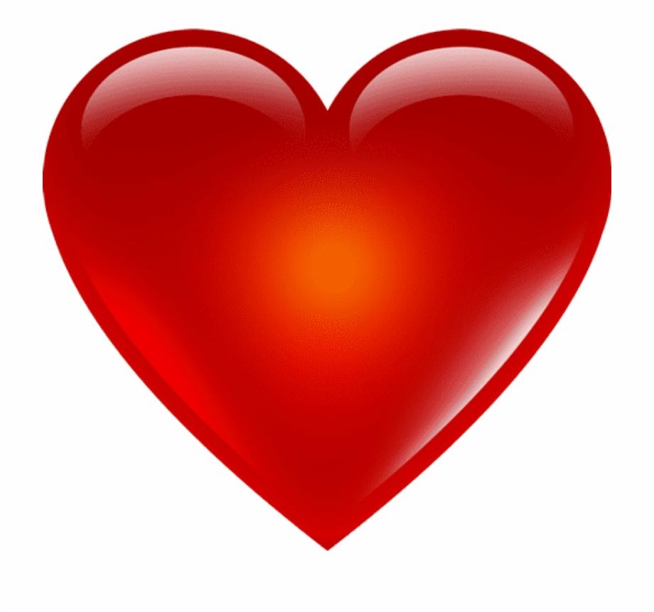 Red Heart Emoji Png   Valentine Heart Transparent Background ...