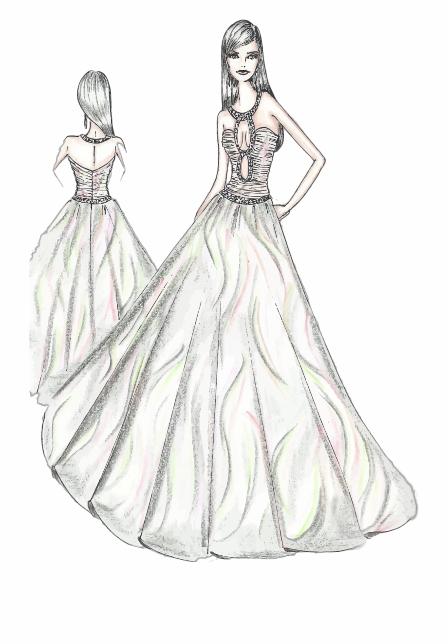 This Free Icons Png Design Of Woman Fashion Dress Sketch Fashion Design Sketches Pdf Transparent Png Download 838823 Vippng