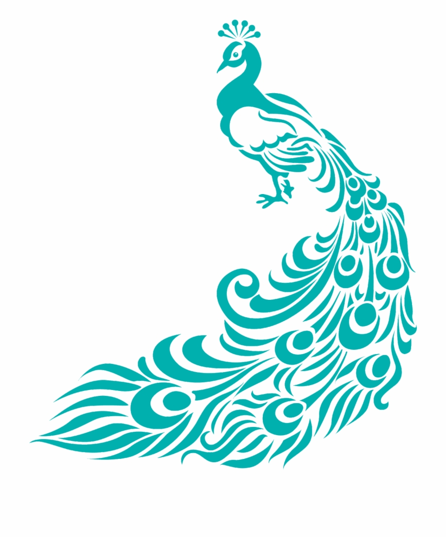 Peacock Clipart Border Peacock Fabric Painting Designs