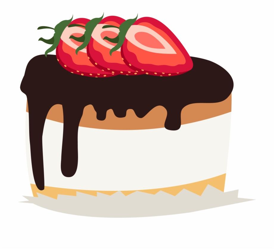 Magnificent Chocolate Cake Strawberry Cream Cake Birthday Cake Cake Clipart Funny Birthday Cards Online Fluifree Goldxyz