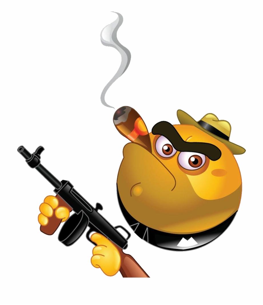 Emoticon Gangster Smiley Clip - Emoticon Gangster | Transparent PNG  Download #894232 - Vippng