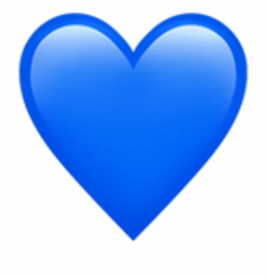 Sticker Heart Hearts Emoji Emojis Blue Iphone Stickers