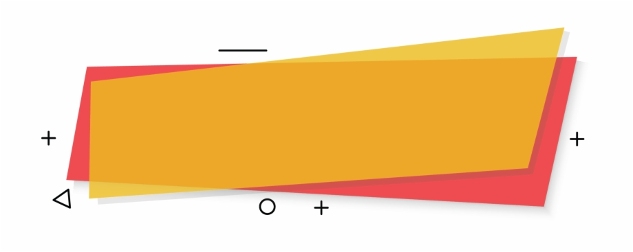 Yellow Banner Red Background Banner With Abstract