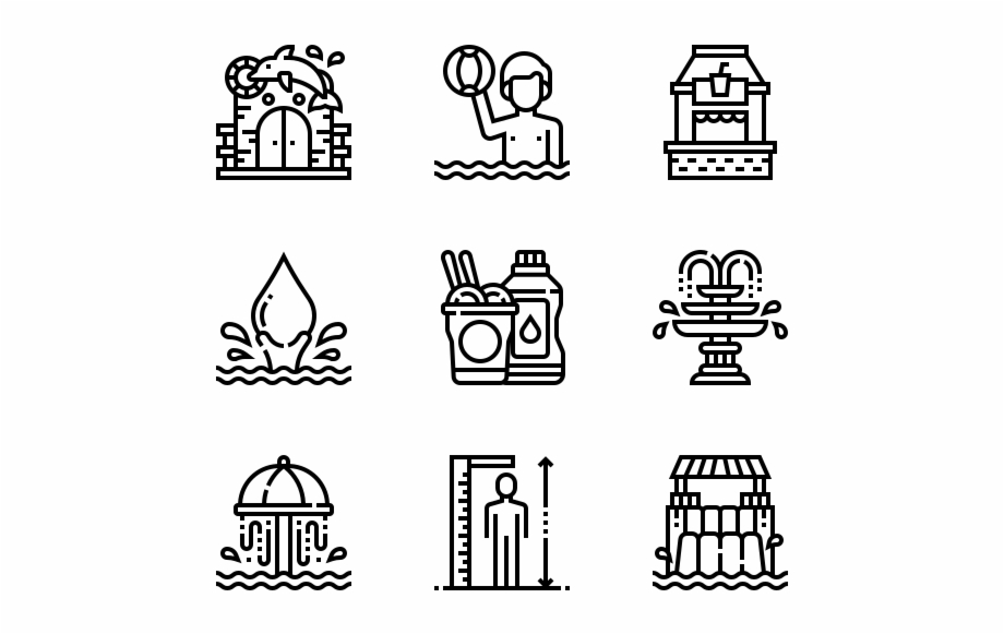 Water Park Online Icon Vector Transparent Png Download