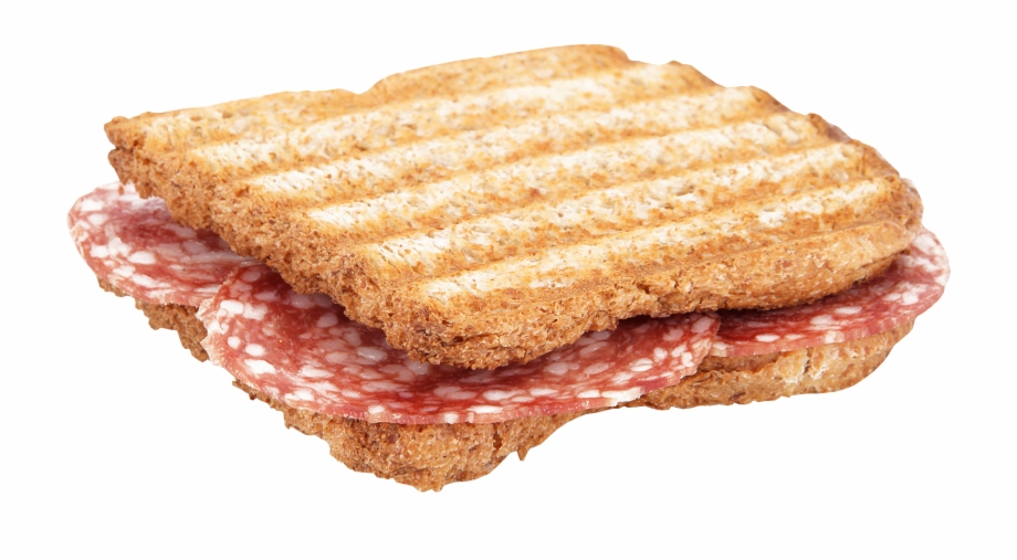 Grilled Salami Toast Salami Sandwich Png Transparent Png Download 923990 Vippng