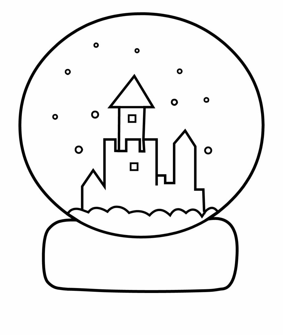 Christmas Snow Globe with Reindeer coloring page | Free Printable ... | 1092x920