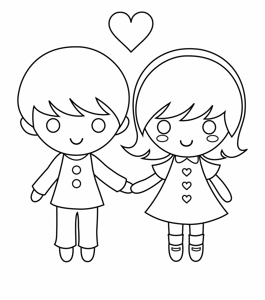 Anime Boy And Girl banner stock anime boy clipart valentines day free - boy and