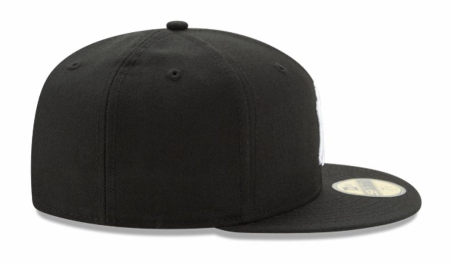 new era new york yankees black white fitted hat baseball cap
