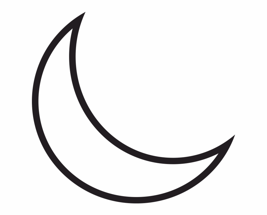 Our Moon Drawing Of A Crescent Moon Transparent Png Download 966437 Vippng