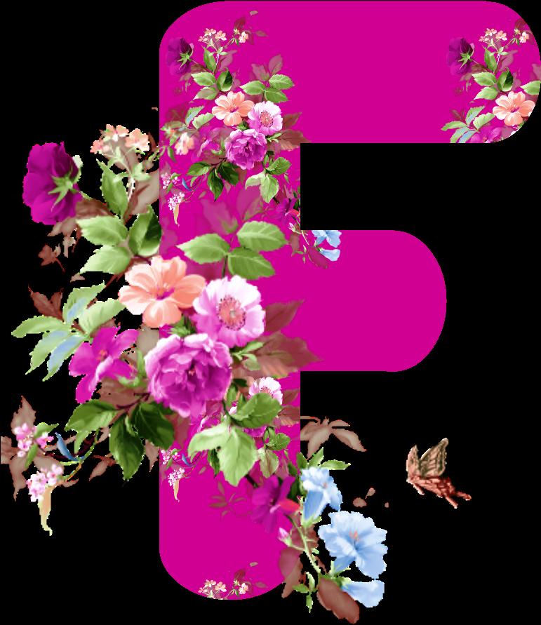 Flores Png Alfabeto Pink Flores Png Stickers De Flores