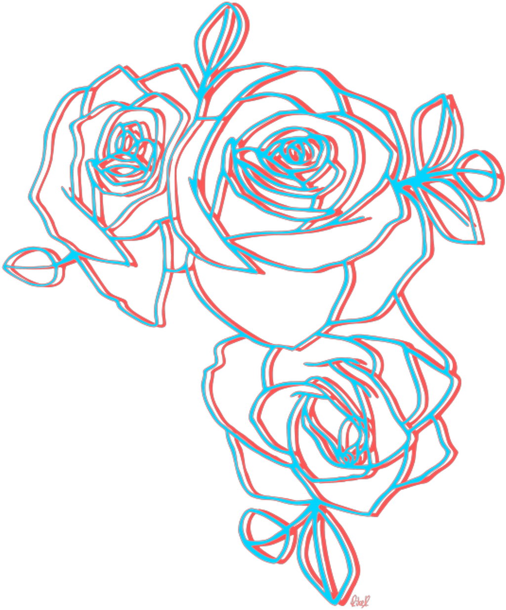 Flower Overlay Png Rose Tumblr Download Free Clipart With A Transparent Aesthetic Rose Drawing 121521 Vippng