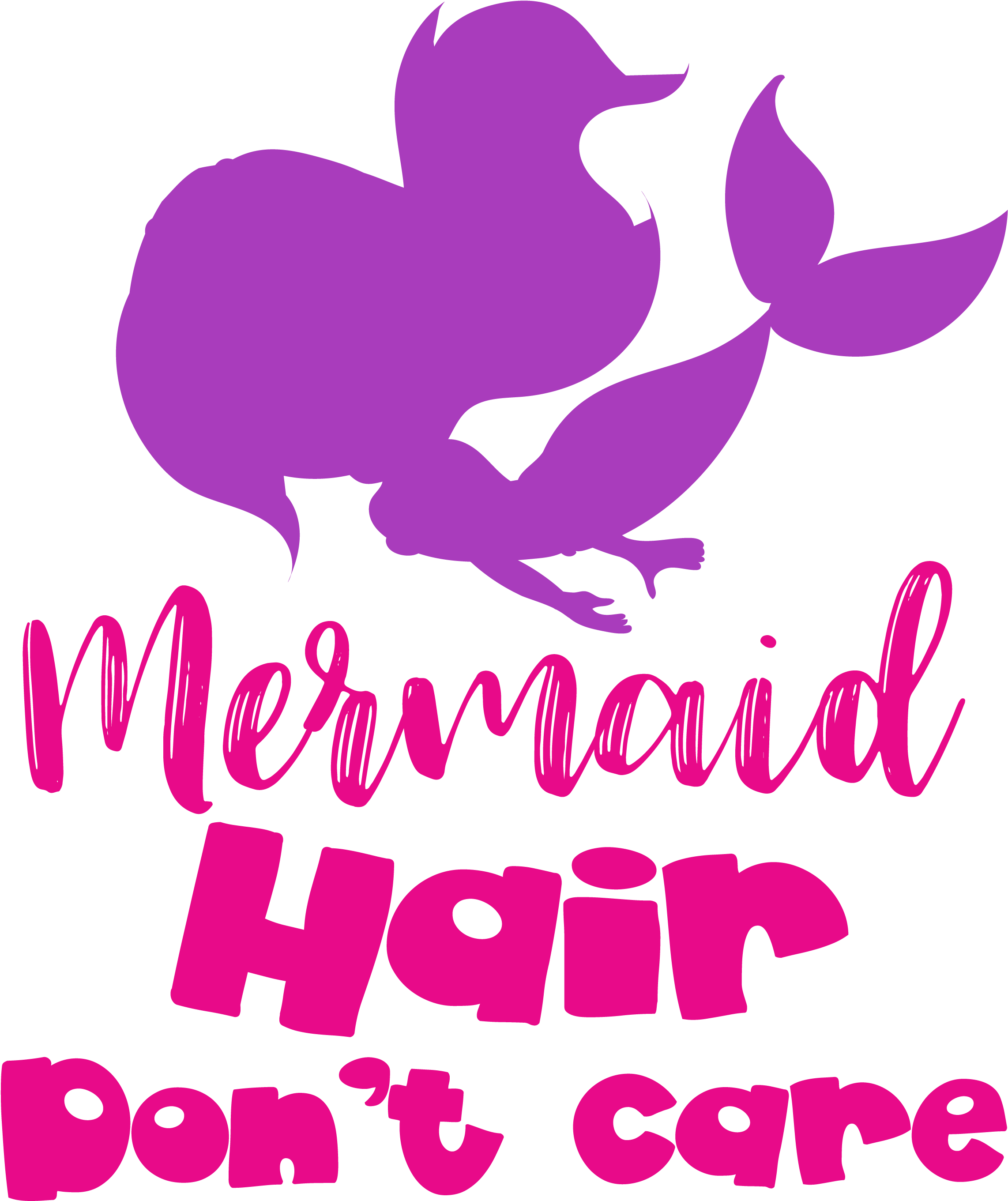 Mermaid Silhouette Png Merma Hair Don T Care Cutting Files Svg Dxf Pdf Digitale Seiten 1267568 Vippng