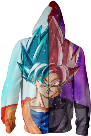 Two Face Png Two Face Zip Hoodie Goku 1551256 Vippng