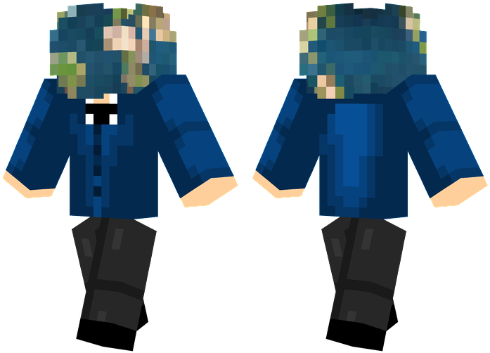 Minecraft Steve Head Png Earth Head Minecraft Pulp Fiction Skin 1723788 Vippng
