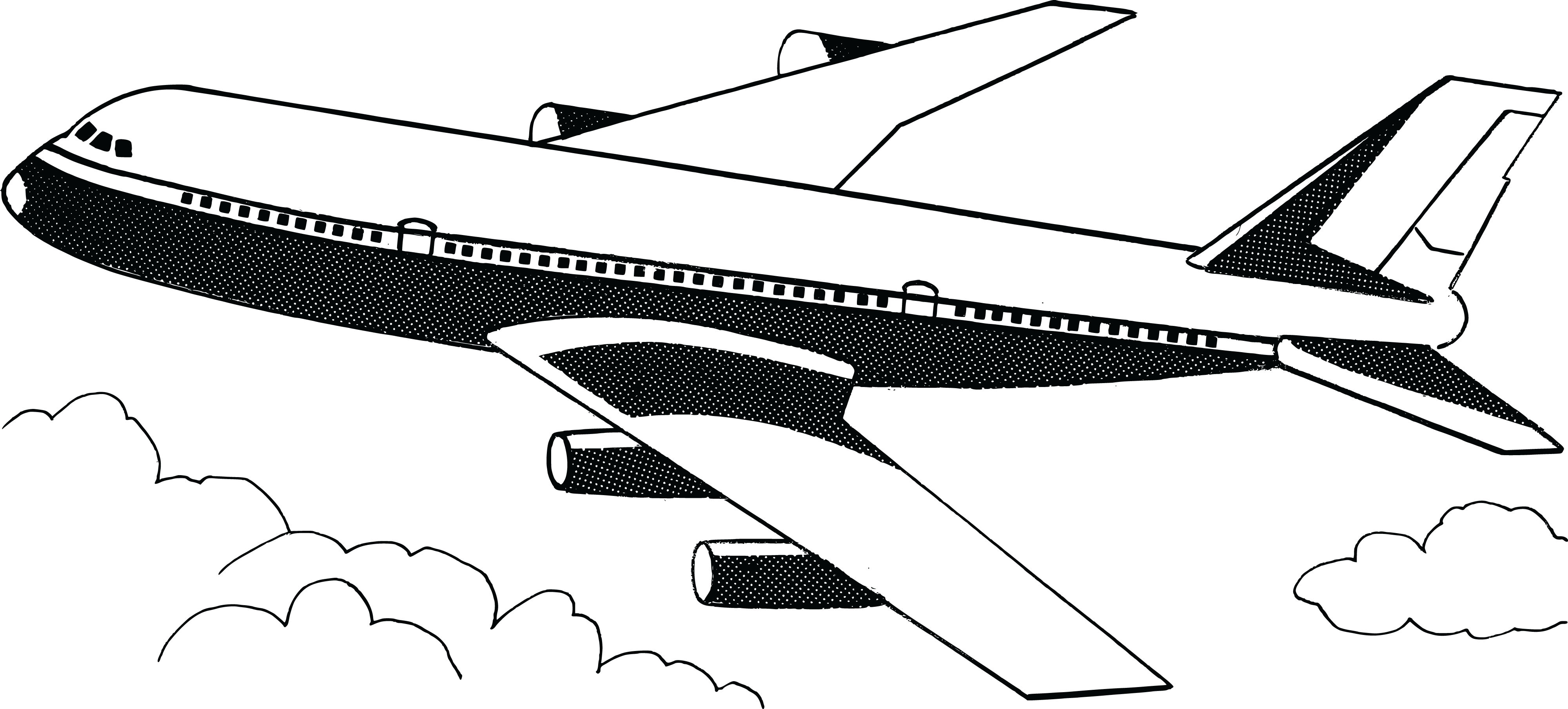 Airplanes Png Free Clipart Of A Plane Black And White Clip Art