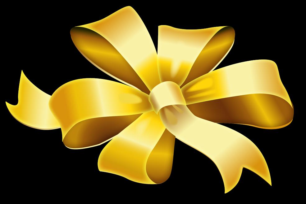 ribbon transparent png - Golden Bow Ribbon Transparent ...