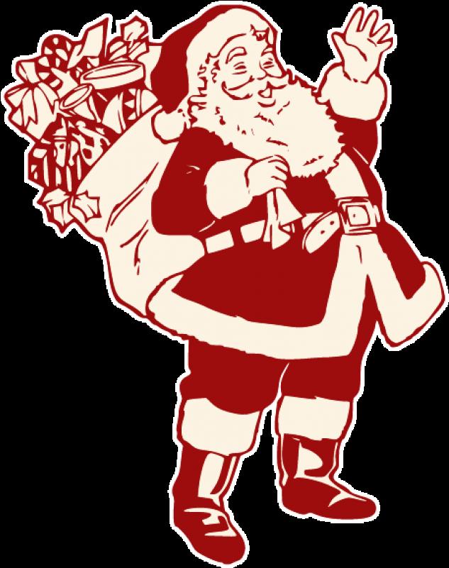 Santa Hand Png Santa Claus Pencil Sketch 1949432 Vippng