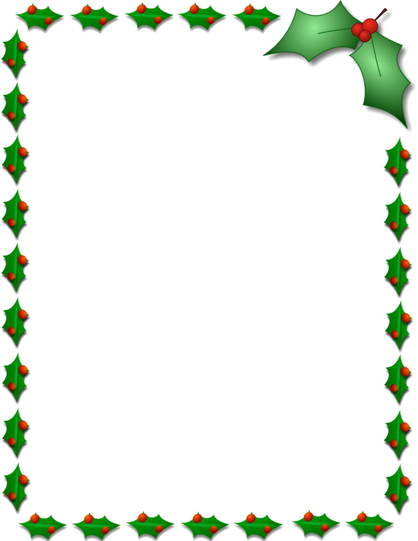 This is a graphic of Free Printable Christmas Borders in high resolution