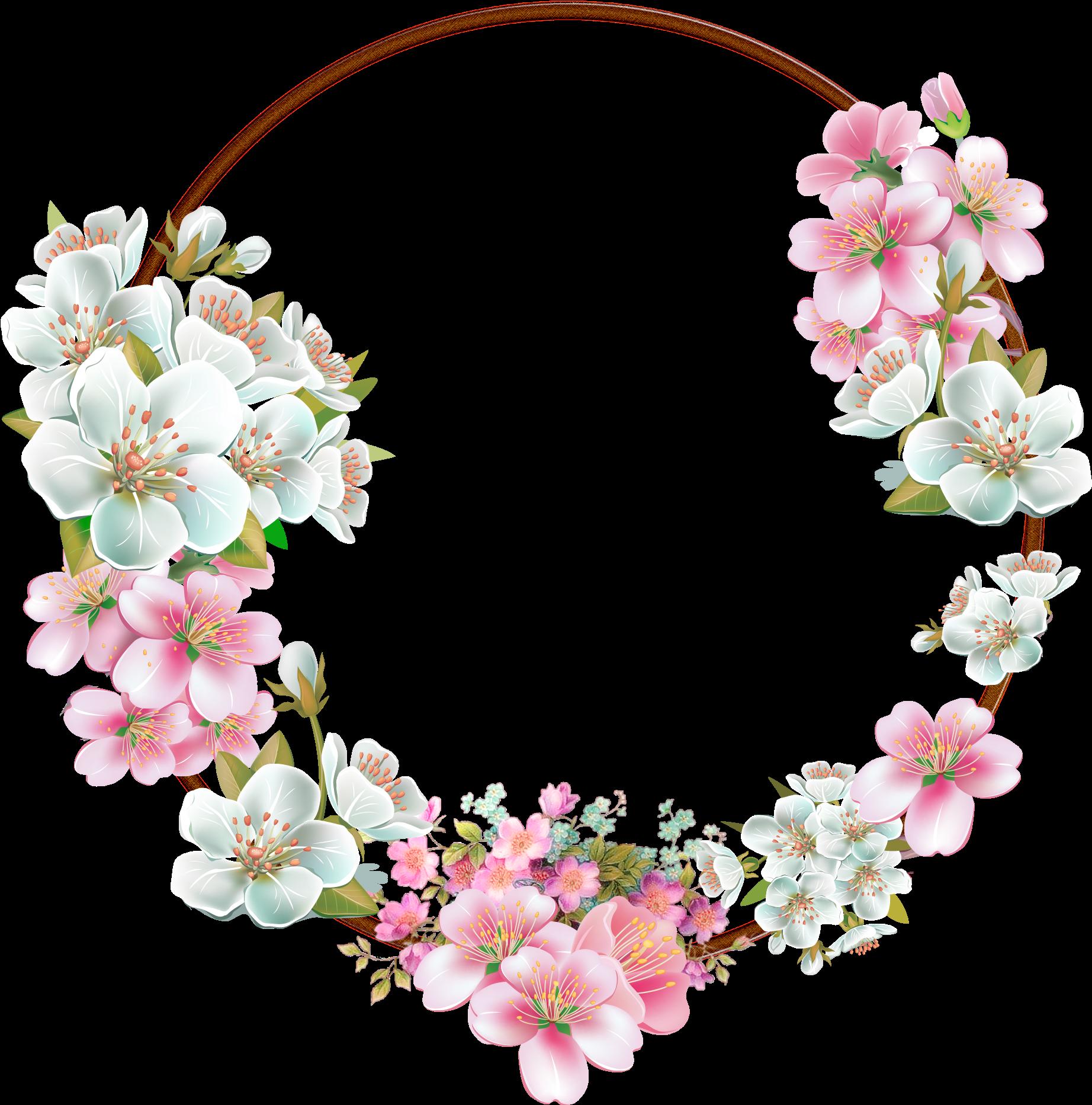 Flowers Png Tumblr Frame Floral Transparent Background 28428
