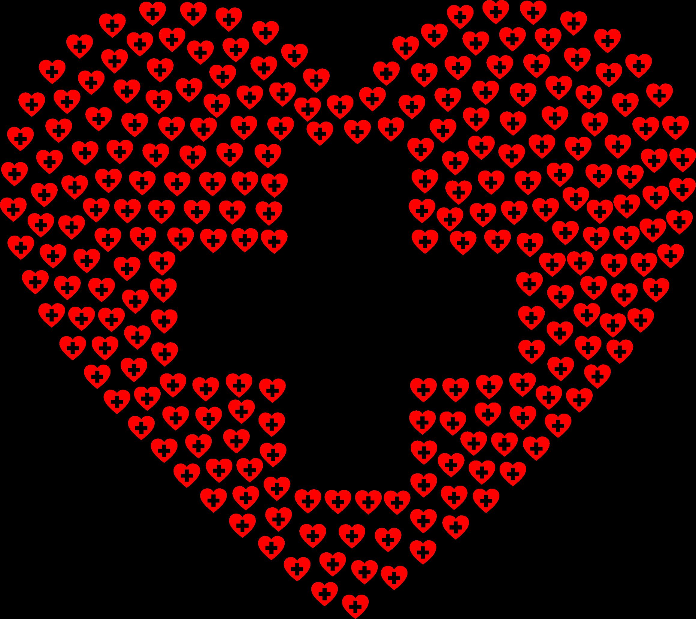 рисунок из смайлов сердце демонстрируют