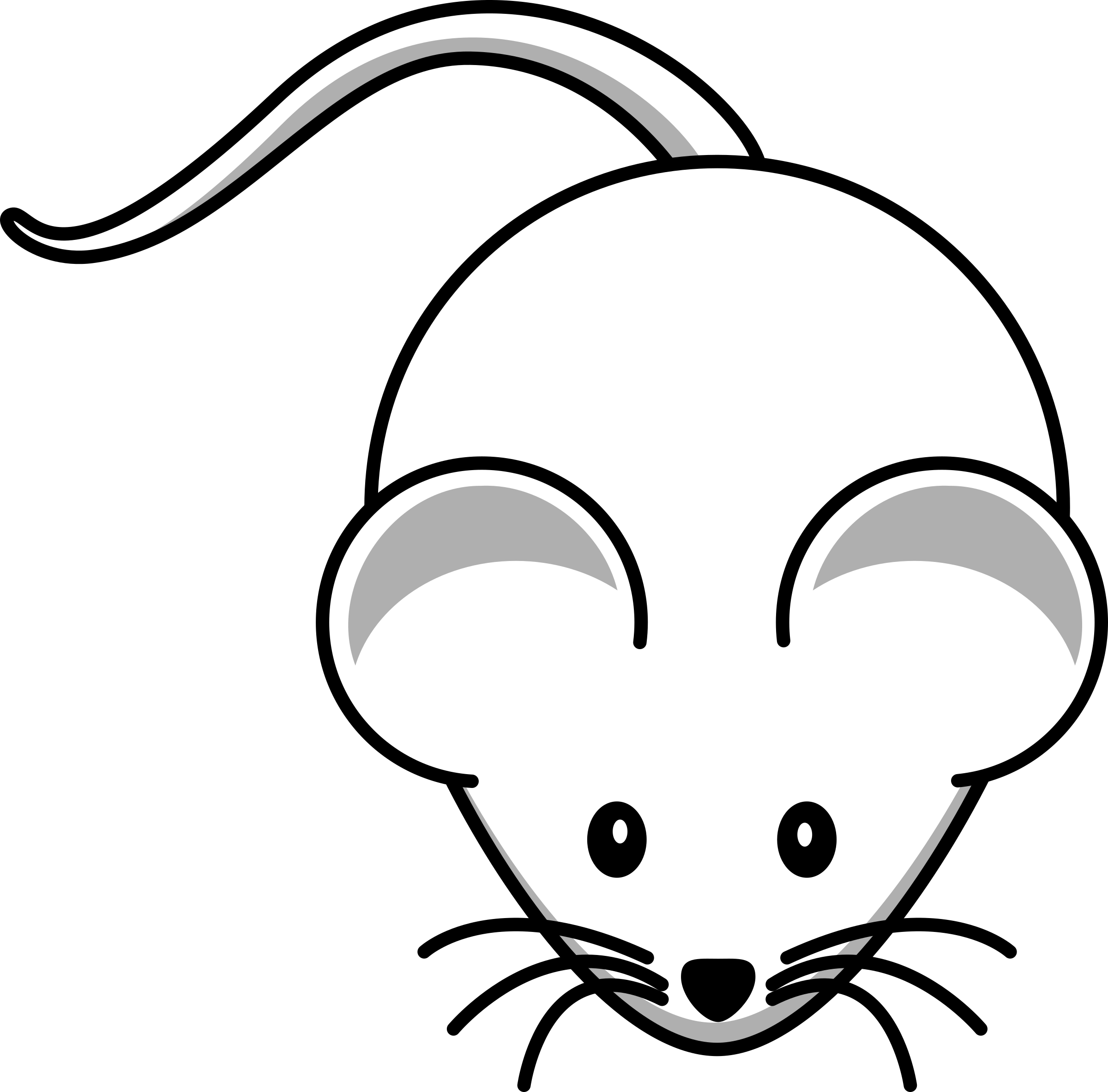 Mickey Mouse Outline Clip Art at Clker.com - vector clip art online,  royalty free & public domain