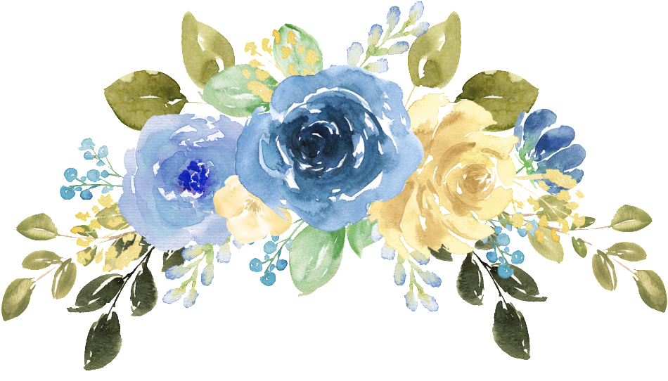 blue watercolor png - Free Watercolor Flowers, Blue ...