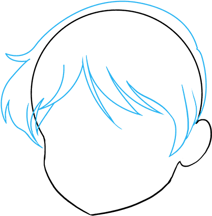 Anime Face Png How To Draw Anime Girl Face Sketch 2069774 Vippng