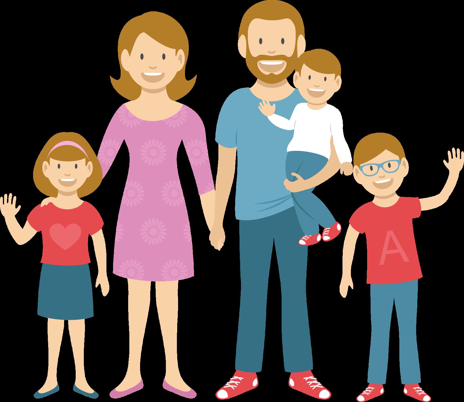рисунки счастливой семьи с детьми как