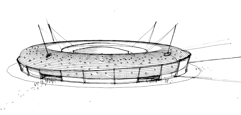 Milad Tower Png Free Stock Aew Architects Archive Competition Thailand Sketch Of A Stadium 2252160 Vippng
