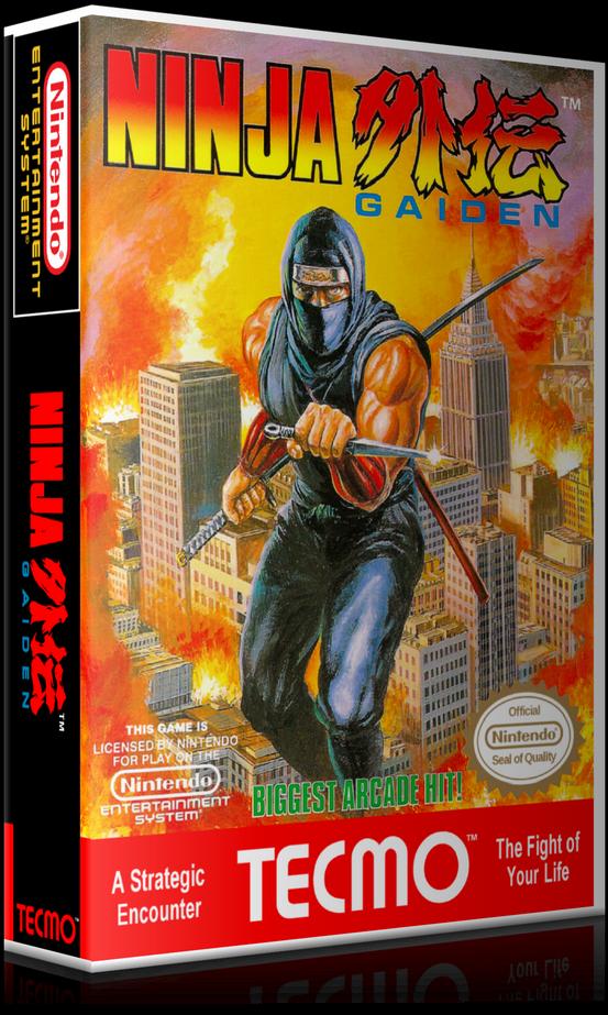 Ninja Gaiden Png Nes Ninja Gaiden Retail Game Cover To Fit A Ugc