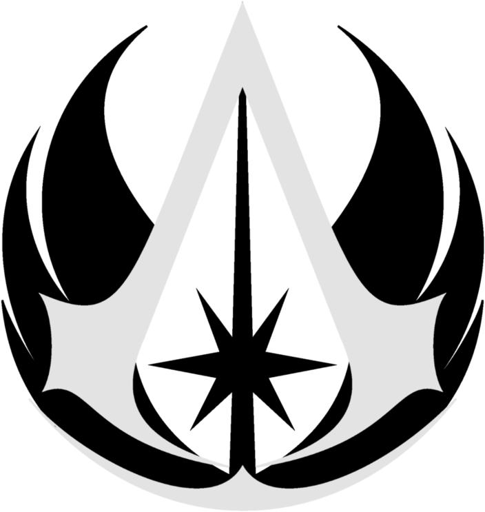 Assassins Creed Symbol Png Jedi S Creed Jedi Order Logo Png 259905 Vippng