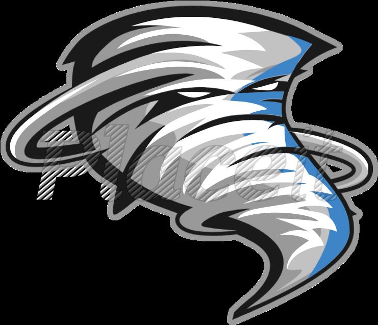 Tornado Png Sports Logo Template With Tornado Icon 444bforeground Tornado Logo Png 2533706 Vippng