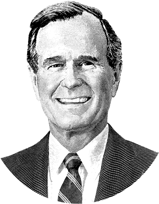 George W Bush Png Click And Drag To Re Position The Image If Desired George Hw Bush Sketch 2562274 Vippng