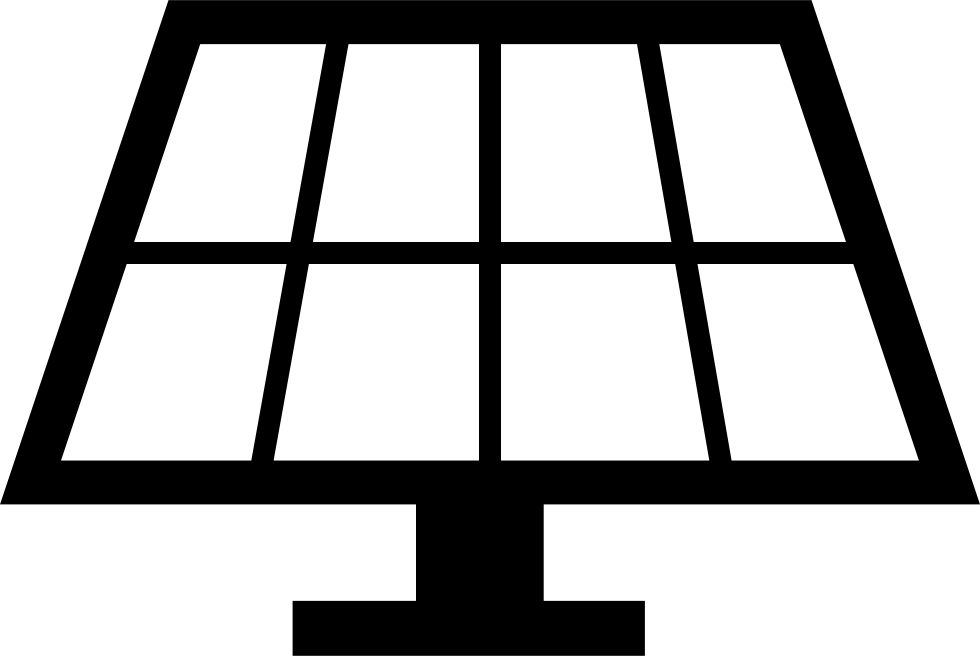 Solar Panel Clipart Black And White , Free Transparent Clipart - ClipartKey