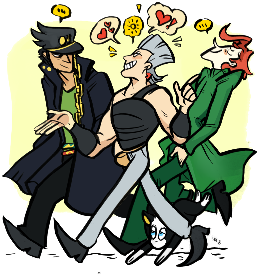 Jotaro Hat Png Stands Holding Their User S Hand Stardust Crusaders Cartoon 2686292 Vippng