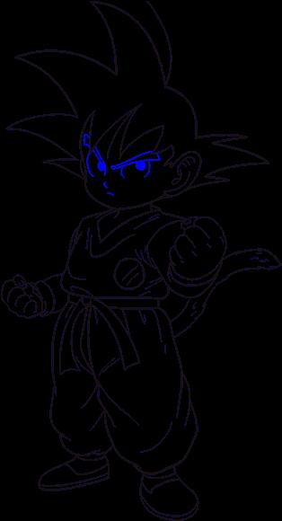 Goku Head Png How To Draw Goku Drawing Goku Black And White Easy 2719010 Vippng