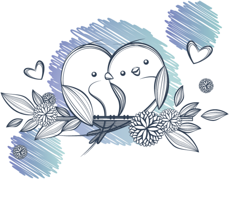 Bird Drawing Png Blue Love Bird Birds Draw Drawing Sketch Sketchbook Cartoon Lovebirds 2974119 Vippng