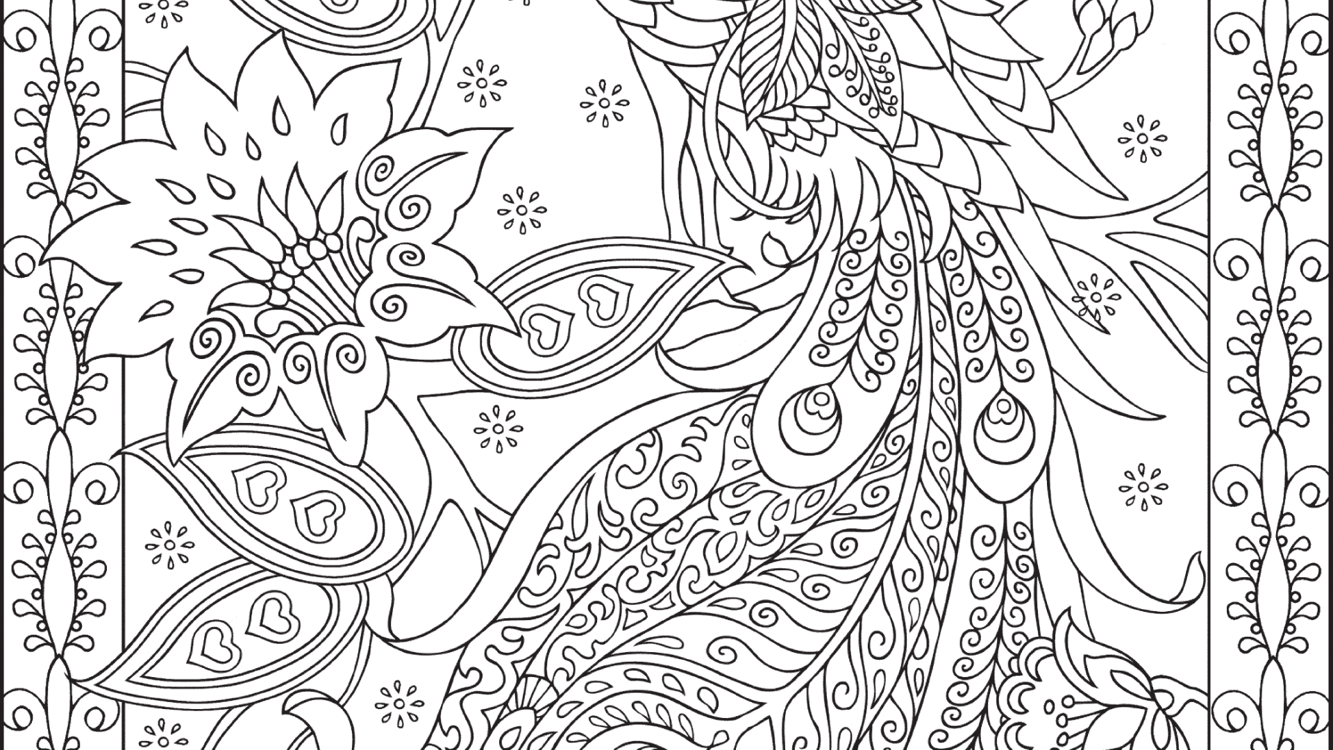 adult coloring pages png - Free Coloring Pages For Adults With ...