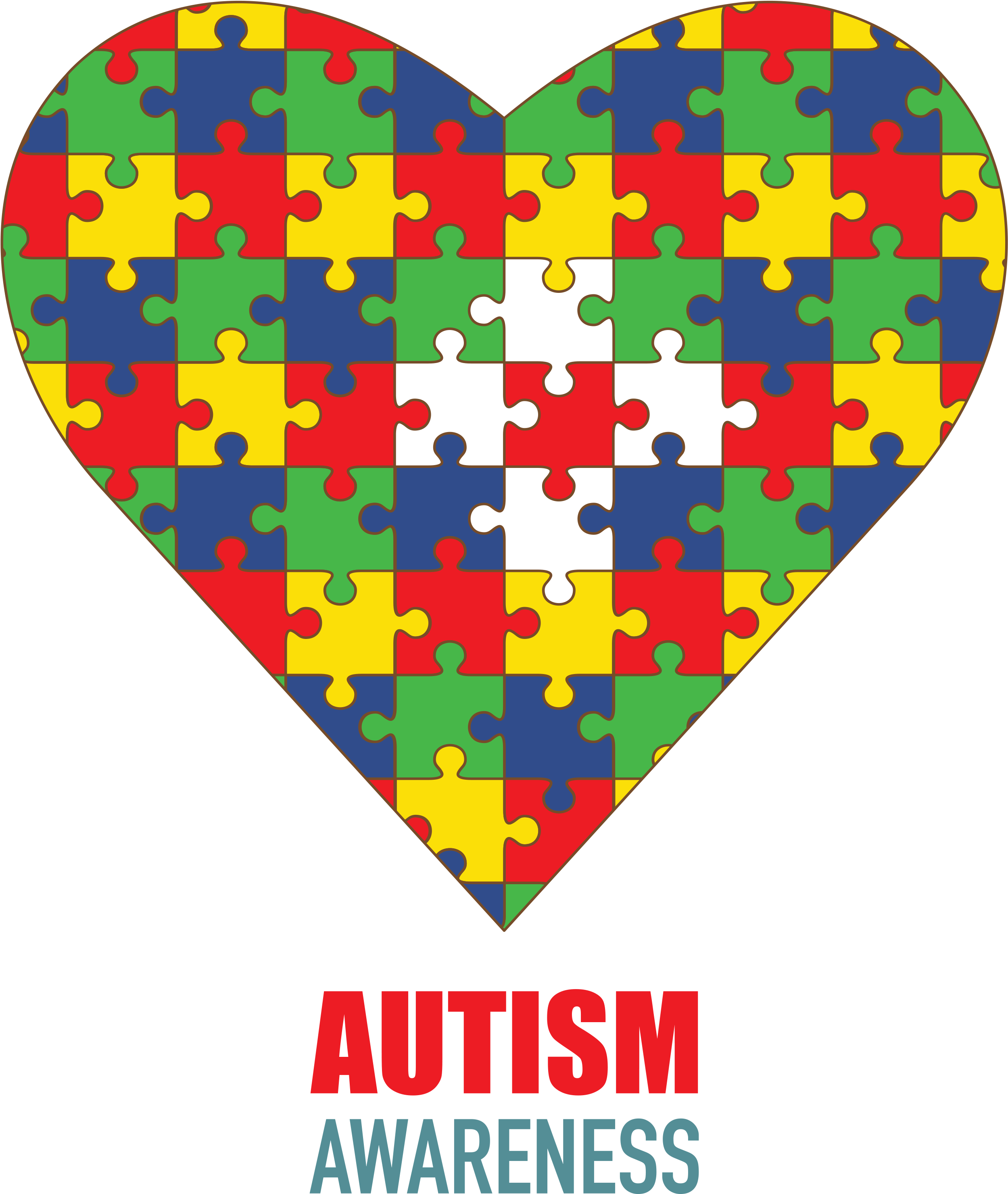 Autism Puzzle Piece Heart Leggings
