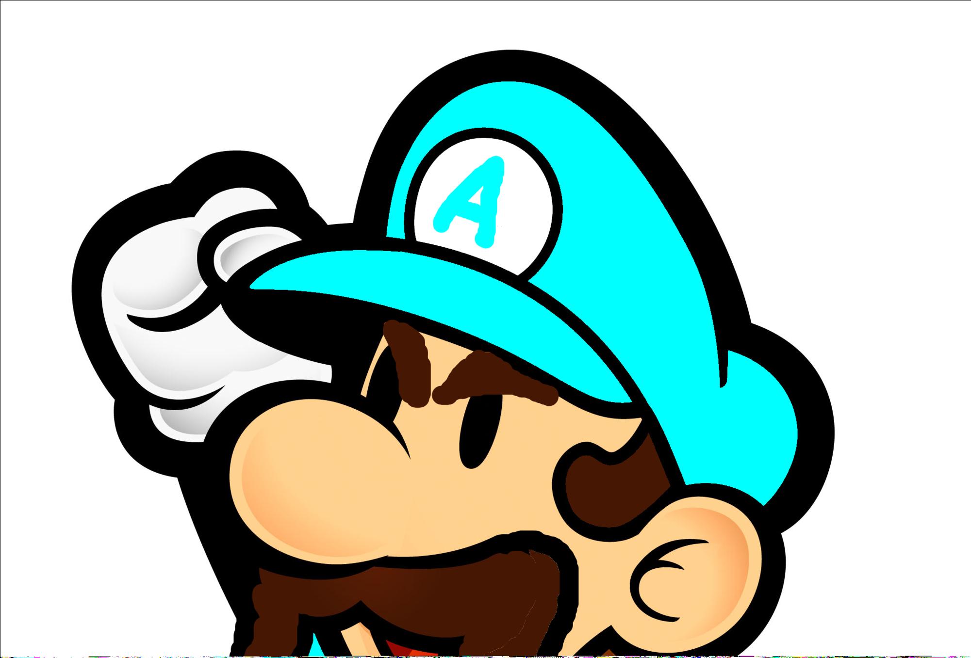 Waluigi Head Png Paper Mario Luigi Coloring Pages 3285505