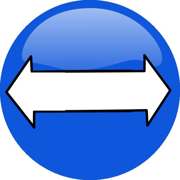 Two Way Arrow Png Blue Bidirectional Arrows Clean Clip Art Bidirectional Arrow Logo 350885 Vippng