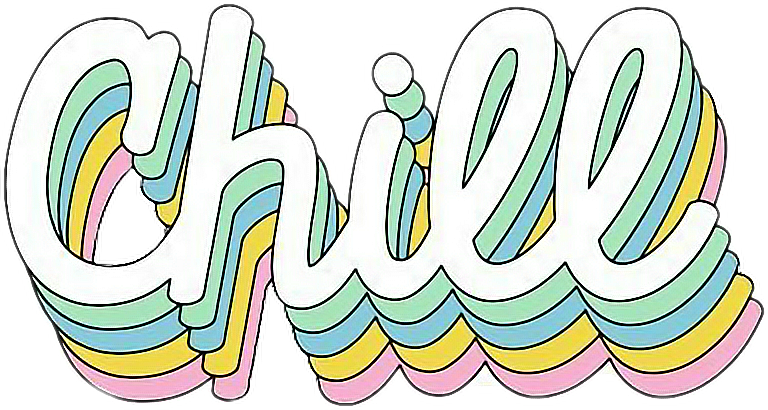 chill png - #chill #cool #rainbow #cute #tumblr #sticker # ...