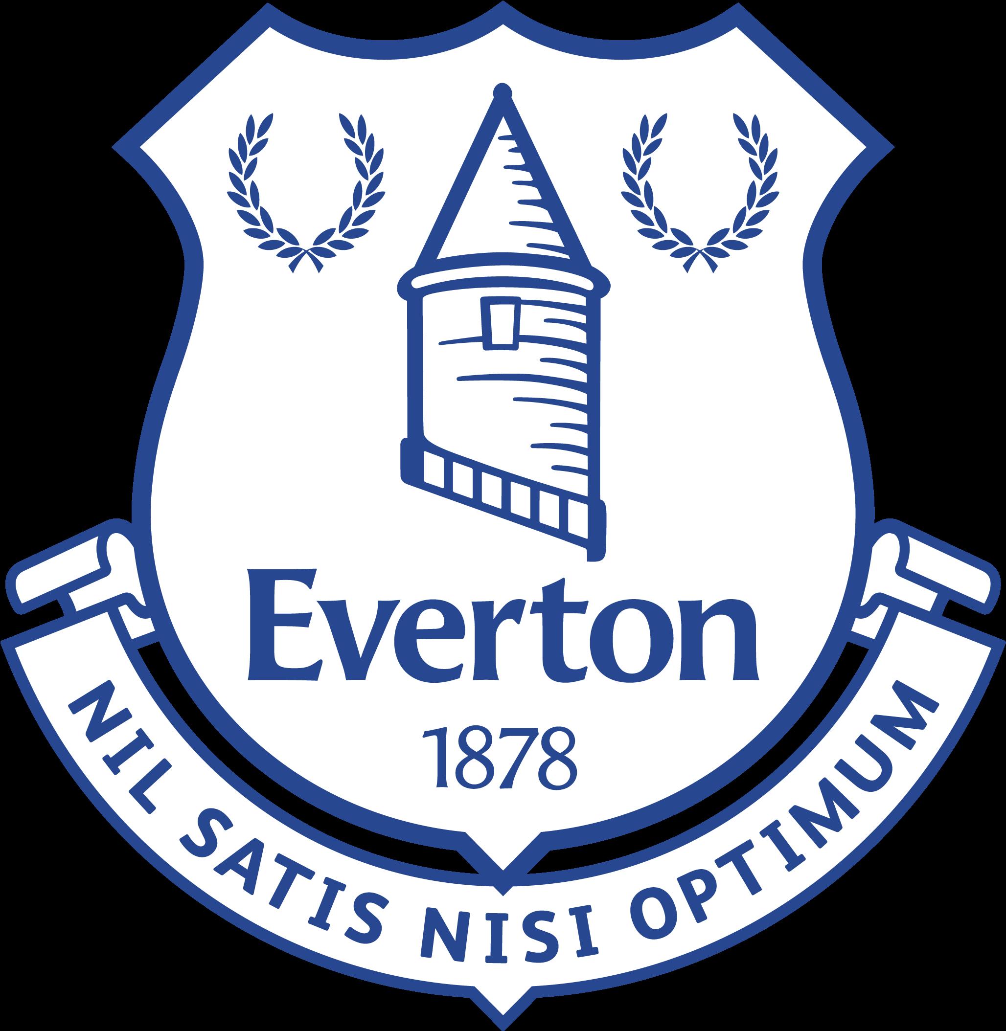Everton Logo Png Everton Emblem Everton White Logo Png 3777364 Vippng