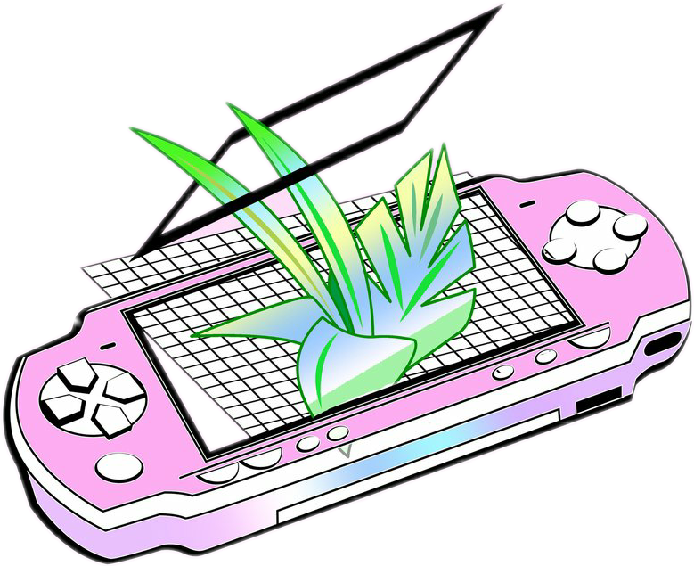 Tumblr Png Collage Electronics Clipart Collage Aesthetic Vaporwave Drawing 3830791 Vippng