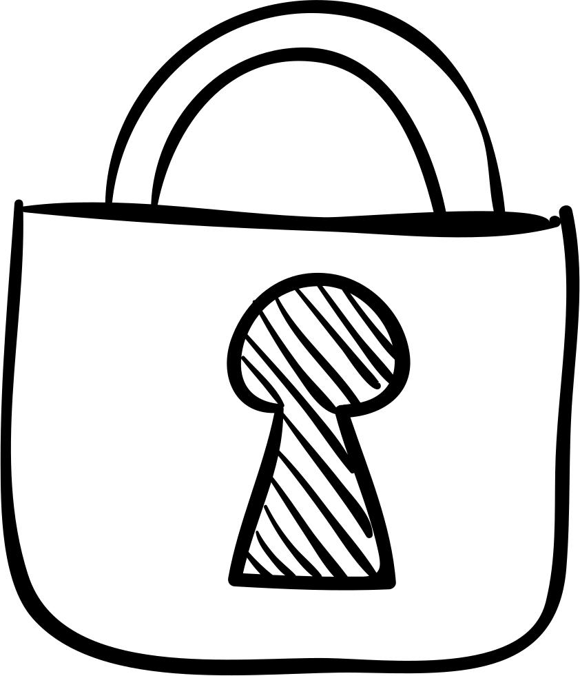 Locked Png Locked Padlock Sketch Svg Png Icon Free Download Como Dibujar Un Candado 3848863 Vippng