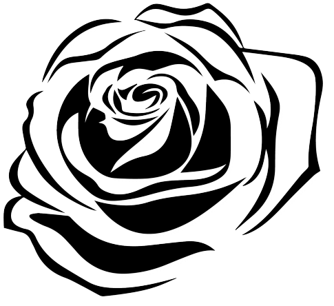 tattoo png - Flower Tattoo Png Transparent Images - Rose Vector Black And White Flowers ...