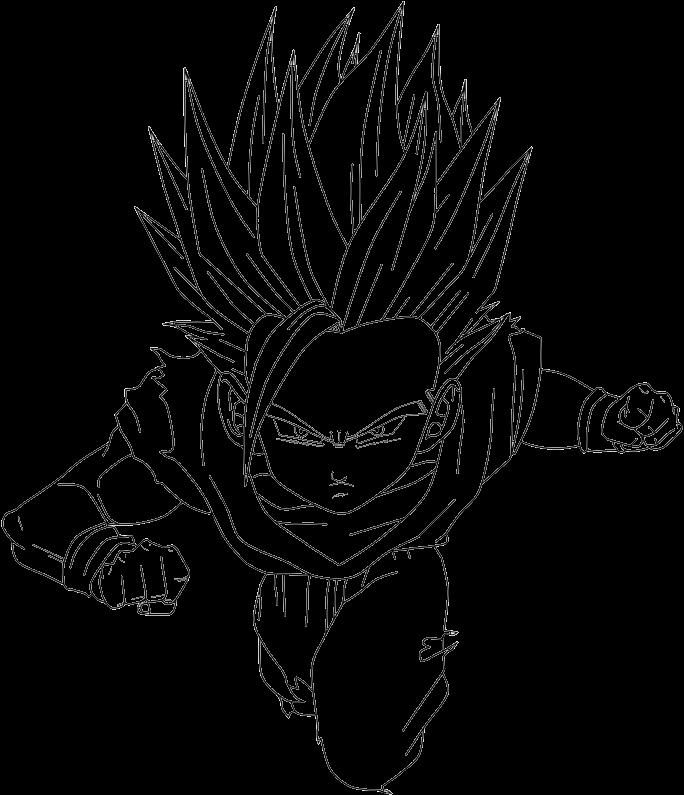 Gohan Ssj2 Png Desenhos Para Colorir Do Dragon Ball Z Gt Af