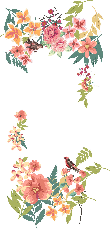 flower border png flower euclidean vector floral design free vintage vector flowers png 413062 vippng flower euclidean vector floral design