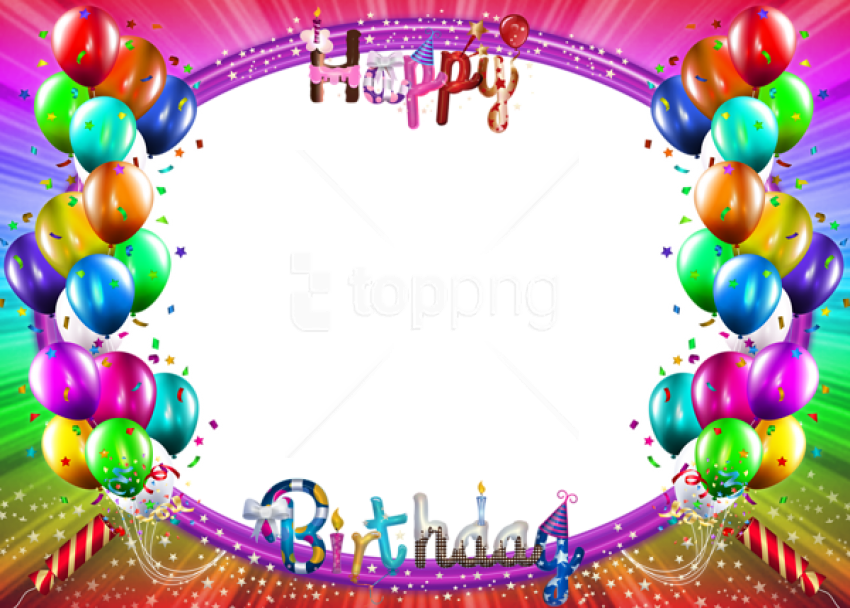 Happy Birthday 3d Png Colorful Background Best Birthday Frame Background Png 4153415 Vippng